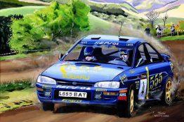 Colin-McRae-in-de-Subaru-Impreza-in-1995-Toon-Nagtegaal