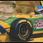 Michael Schumacher Benetton B193 1993 600px met lijst