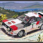 Mikkola Audi Quattro A1 1983 Rally Portugal 600px met lijst