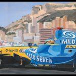 Monaco 2006 Fernando Alonso Renault R26 600px met lijst