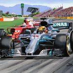Hamilton overtakes Vettel for victory in Spain 2017