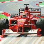 Michael Schumacher Ferrari F1-2000 Toon Nagtegaal