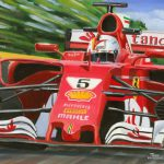 Sebastian Vettel Ferrari SF70H 2017